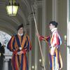 Swiss Guards inside St. Peter's Basilica.