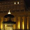 Lights on in the papal apartments during the papacy of Pope Benedict XVI.