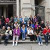 Happy pilgrims in front of St. John Lateran.