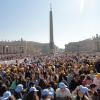 Over 200,000 attend Papal Audience with Pope Francis on April 30, 2014.