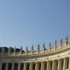 South side of the colonnade designed by the Italian artist Gian Lorenzo Bernini, which surrounds St. Peter's Square.