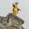 Statue of the Blessed Mother on top of St. Mary of the Angles in Assisi.
