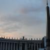 Sunset in St. Peter's Square.