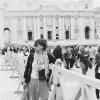Miss Munda in front of St. Peter's Basilica