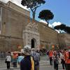 Outside the Vatican Museum.