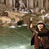 Miss Munda at the Trevi Fountain