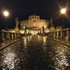 Walking across the Tiber to Castel Sant'Angelo